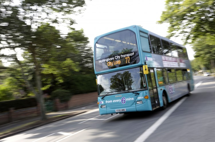 Nottingham has third-highest levels of bus usage in the country