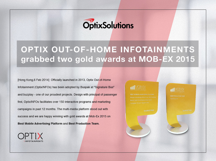 Congratulations Optix!