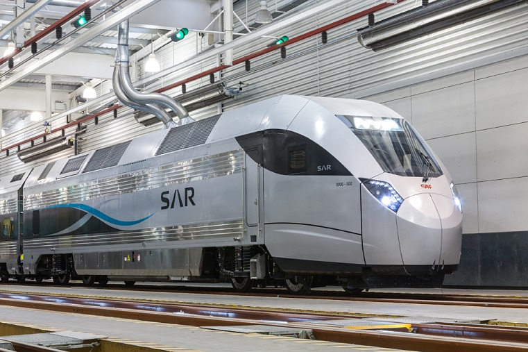 Trials of CAF trainsets underway in Saudi Arabia between Na'ariyah and Riyadh