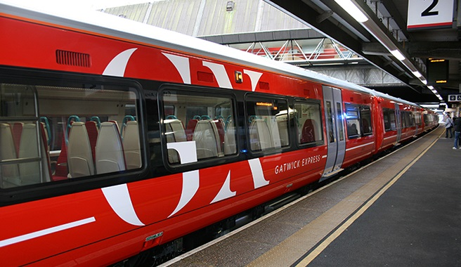 Passengers stay connected on new fleet of Gatwick Express trains