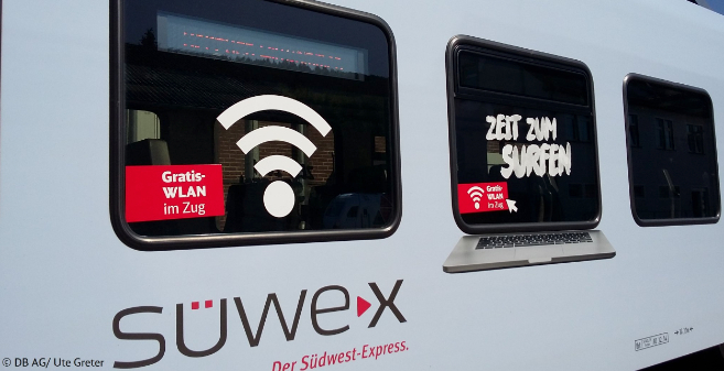 Deutsche Bahn launches free Passenger Wi-Fi service on its Süwex trains