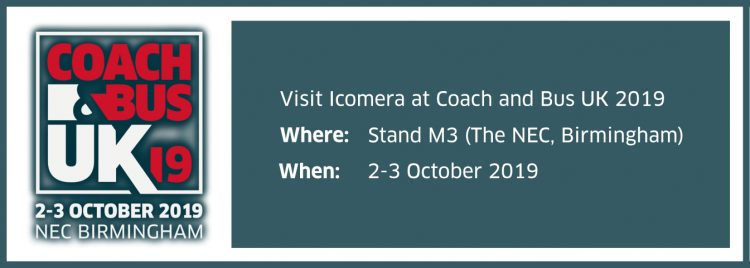 Icomera prepares for Coach & Bus UK 2019